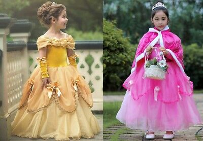 Gorgeous Sofia The First Belle Cinderella Costume Girls Princess Dress Gown ZG8 - Princess Sofia The First