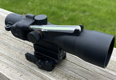 Trijicon ACOG Ta33:  green chevron .308 reticle with Midwest Industries Mount