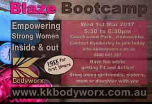 Kk Bodyworx Women's Blaze Bootcamp 'Come and Try Session'! Jimboomba Logan Area Preview