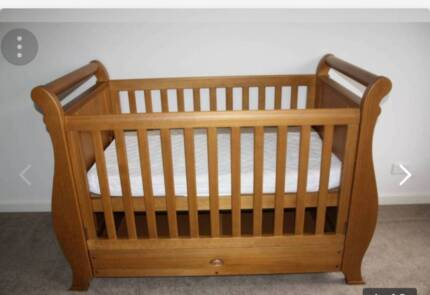 boori sleigh cot bed and mattress