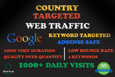 Unlimited Organic Web Site Traffic Country Targeted From Social Media And Google