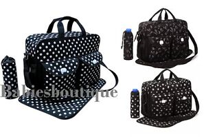 Dark-Blue-Black-3PCs-Baby-Nappie-Diaper-Changing-Bags-Set-3-Designs-NEW