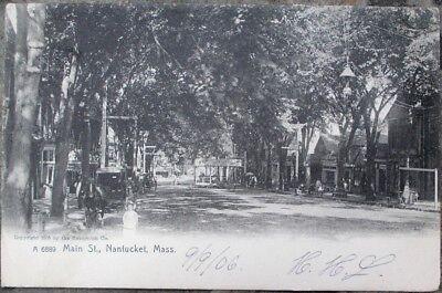 Nantucket, MA 1906 Rotograph Postcard: Main Street - Massachusetts Mass for sale  Shipping to Canada