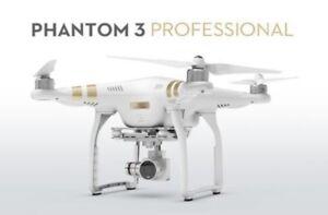 Dji Phantom 3 drone with 3 batteries, sunshade