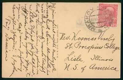Mayfairstamps Austria Markov to St Procopius College Lisle IL Card wwo_49765