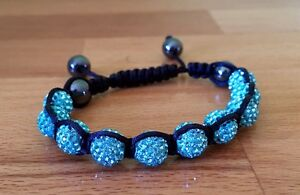 Blue Crystal Shamballa Bracelet Beenleigh Logan Area Preview
