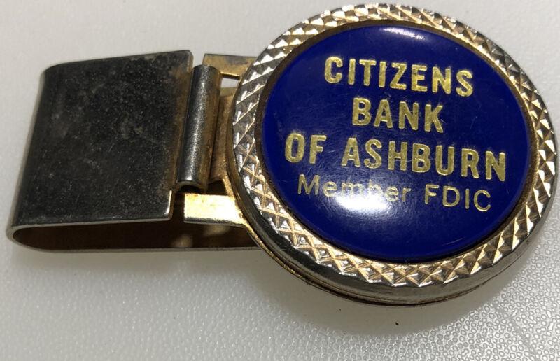Ashburn Virginia Citizens Bank Banking Finance Advertising Vintage Money Clip
