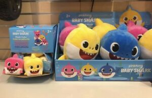 Baby Shark singing plush cube