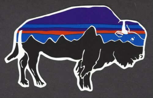 NEW PATAGONIA AUTHENTIC BISON STICKER DECAL MOUNTAINS OUTDOOR
