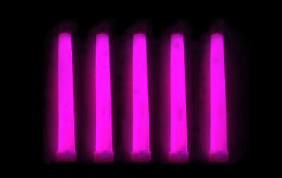 Pink Glow Sticks (25pcs 6inch Industrial Grade Glow Sticks Camping Emergency Outdoor Light.  Pink)