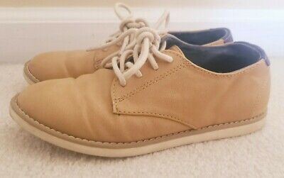 Zara Kids Tan Leather Shoes Boys Size EU 30 Brogues Oxford Lace Up US 12