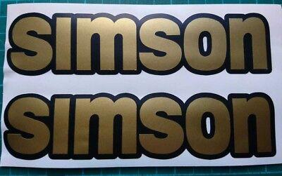 Gold Aufkleber Set (Simson matt Gold Aufkleber Set )