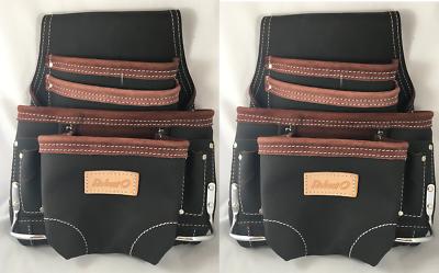 2 10 pocket oil tan leather carpenter