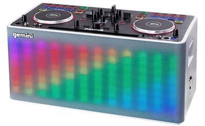 Gemini MIX2GO tragbar DJ System Player Speaker Akku LED Licht Bluetooth AUX Pad (Dj Equipment Gemini)