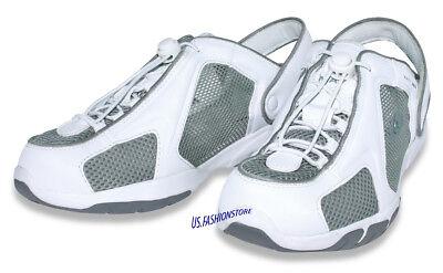 Mac3 Medi Slip On mit Fersenriemen weiß Klinik Praxis Arztschuhe Sandalen (Weiß Ferse Schuhe)