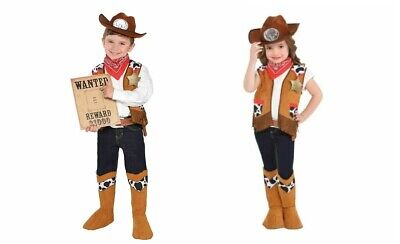 Sheriff Costume Kids ( Cowboy Sheriff Costume Kit - Unisex Child Small (4-6) - NEW Ships FREE In)
