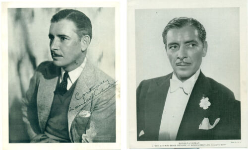 2 RONALD COLMAN Orig 1930s Premium Photos