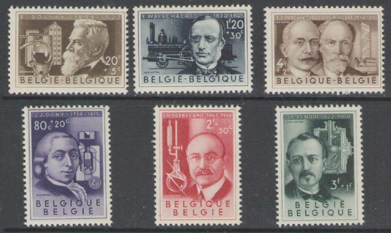 BELGIUM SG1561/6 1955 CULTURAL FUND SCIENTISTS MNH