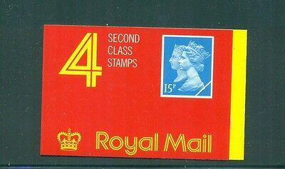 Great Britain 1990 60p barcode Double Head Machin w Cyl W1 W1 W1. Booklet JA1