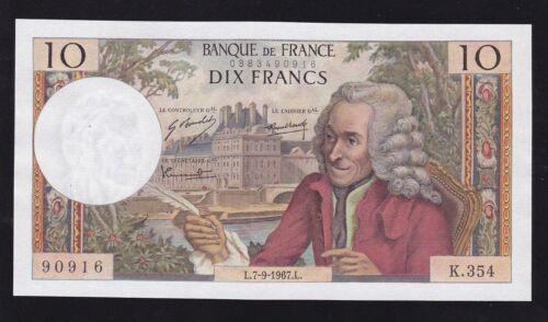 FRANCE ----- 10  FRANCS  1967 ------ UNC ---- WITH  PINHOLES -----