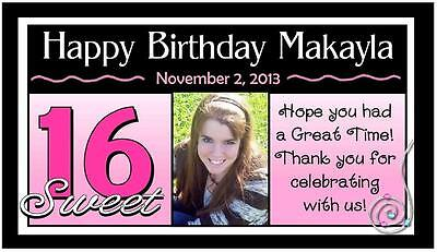 12 SWEET 16 SIXTEEN BIRTHDAY PARTY FAVORS PHOTO MAGNETS
