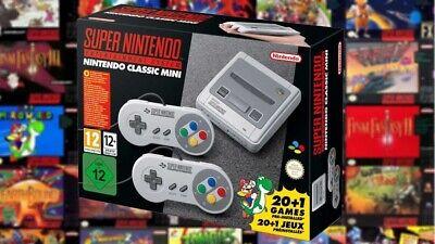 Console SNES Nintendo CLASSIC Mini Super Nes 21 Giochi Inclusi BRAND NEW SEALED