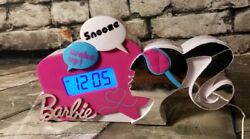 Barbie Glamtastic Alarm Clock Radio Digital Backlit LCD Snooze