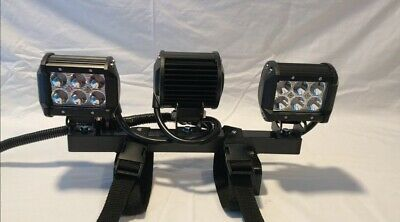 Auxiliary Tractor Work Lights - Quick Attach Mounts On 4 Rops