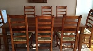Stunning Solid Timber Dining Table with 8 Chairs! Stained Oak. East Lindfield Ku-ring-gai Area Preview