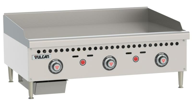 """Vulcan Vcrg36-t Medium Duty 36"""" Snap Action Thermostatic Gas Griddle"""