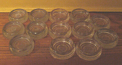 Having a Caster Party? 13 Vtg Glass Caster Cups