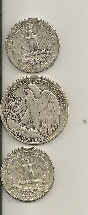 90% Silver USA Coins Lot $1 face Shiny Quarters or W Liberty Half Dollars