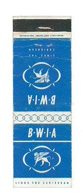 BWIA LINKS THE CARIBBEAN MATCHBOX LABEL ANNI '50 MARINA AMERICA