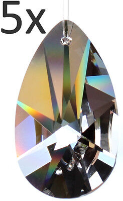 5 Regenbogenkristalle Sonnen Kristall Pendel 28mm Feng Shui Suncatcher Tropfen