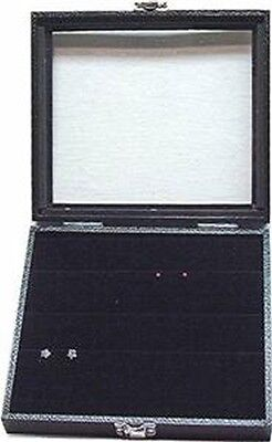 Glass Top Jewelry Display Case Box W Earring