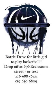 BOTTLE DRIVE FOR LITTLE GIRL TO PLAY BASKETBALL