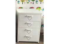 Girls metal white chest of drawers from Next