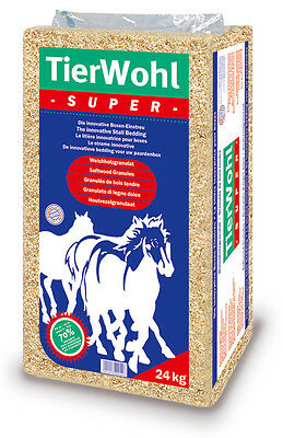 TierWohl Super Pferdeeinstreu Einstreu Weichholz Granulat Boxenstreu 24 Kg Streu