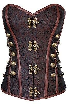 Damen Luxus Sexy Steampunk Korsett Viktorianisches Kostüm 6-26 Plus Größe