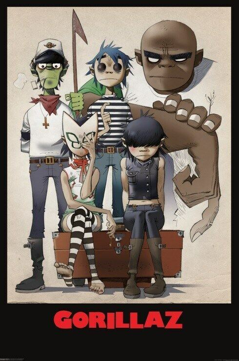 Gorillaz Poster Band Characters The
