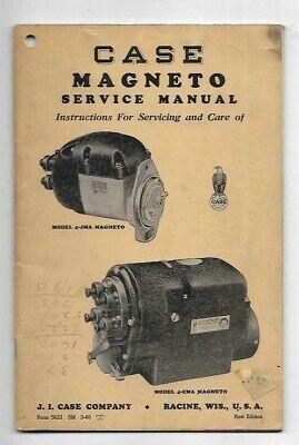 Case Model 4-jma 4-cma Magneto Service Manual