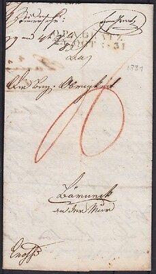 Österreich Vorphila Graz O.P.A. Gratz Brief 1831 mit L2 gest.