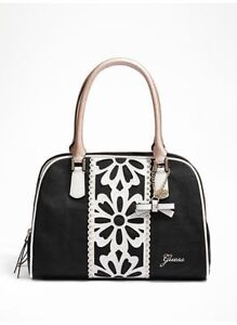 Guess Purse Black with floral print New with tags
