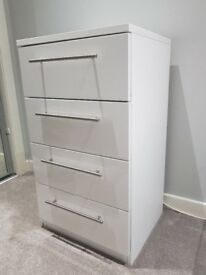 Gloss White Chest Of Drawers - PERFECT Condition