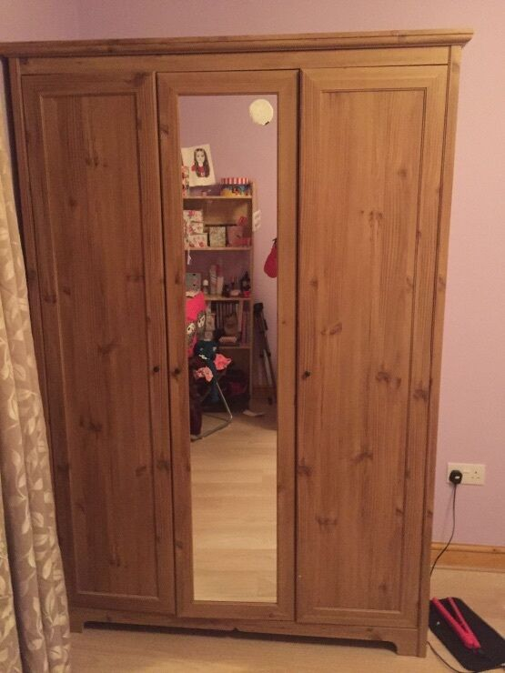 Ikea Aspelund 3 Door Wardrobe And Mirror In The Middle