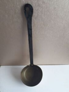 Vintage Large Brass Ladle with cast iron Handle
