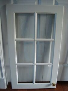 Glass Panel Door for Kitchen Cabinets  $40