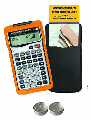 Calc  Ind  Construction Master Pro Trig Calculator 4080 W Spare Lr44 Batteries