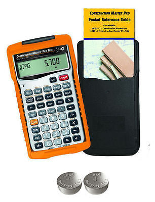 Calculated Construction Master Pro Trig Calculator 4080 Wspare Lr44 Batteries