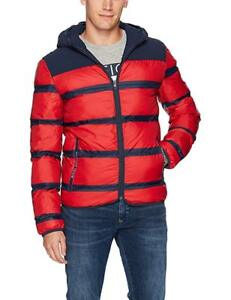 NEW Tommy Hilfiger Denim Men's Puffer Jacket with Stripes SzXL